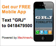 mobile app icon for melbourne forklift company GRJ Forklifts